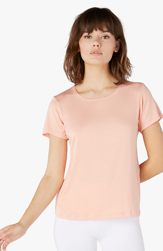 Over under relaxed tee - Coral dust