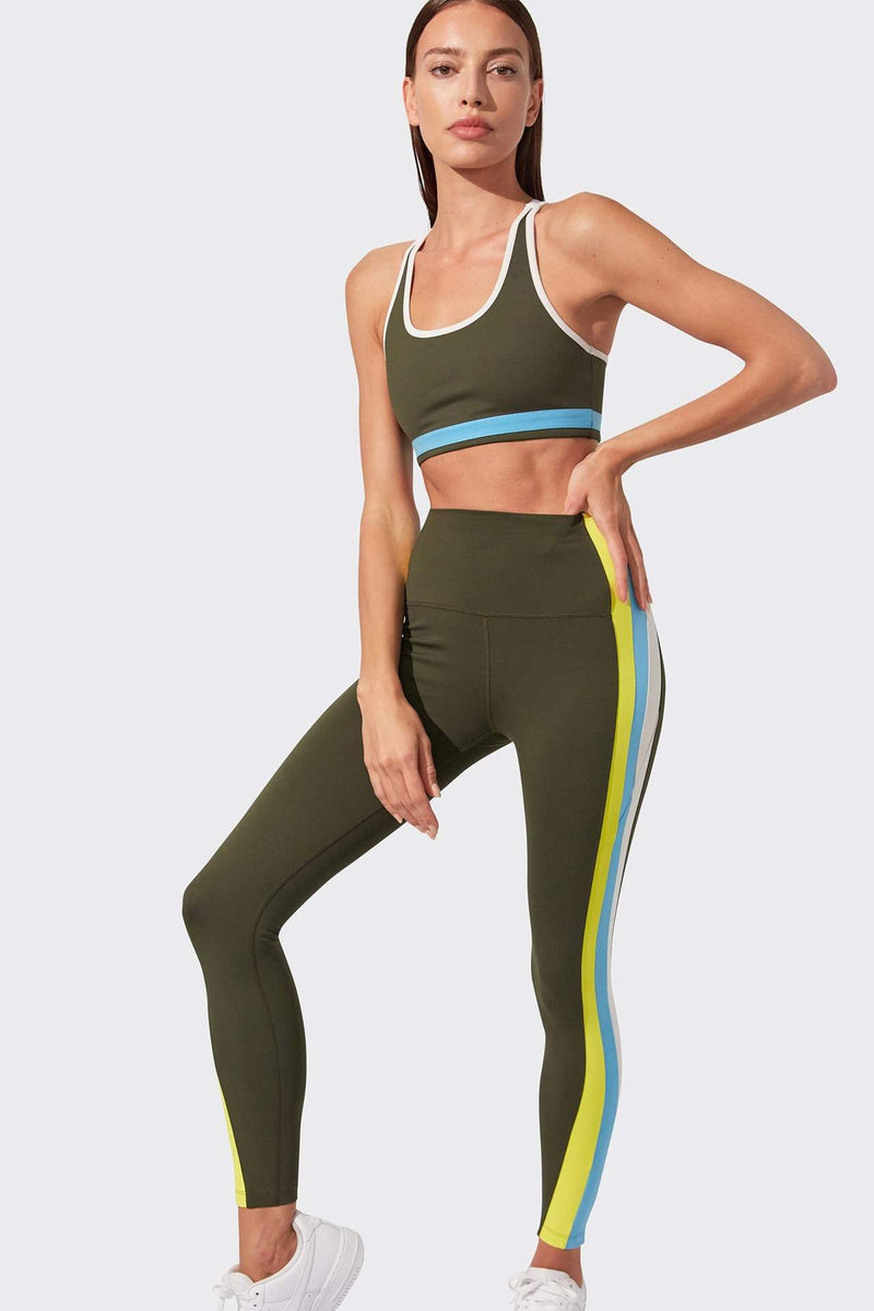 Jaden 7/8 High Waist Legging - Army Multi
