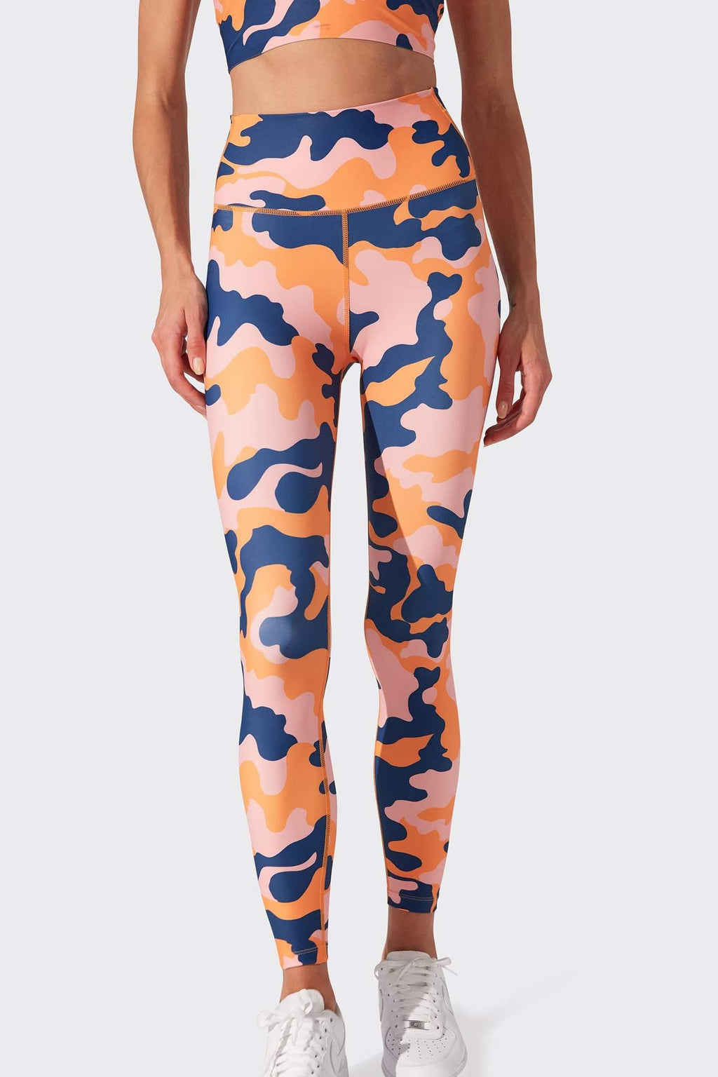 Ava High Waist 7/8 Legging - Pink Camo