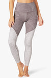 Lux high waisted angled midi legging - Etched fans blocked