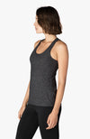 Travel Lightweight Racerback Tank - Black Charcoal