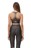 Speed Tech Gold Sports Bra - Black/Gold