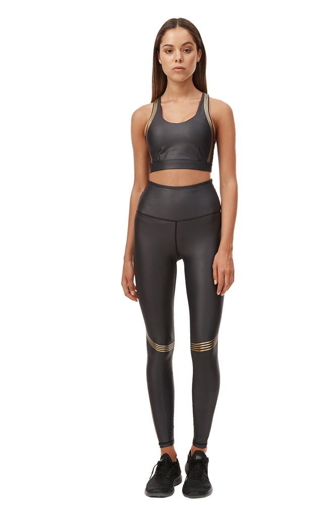 Speed Tech Gold Legging - Black/Gold