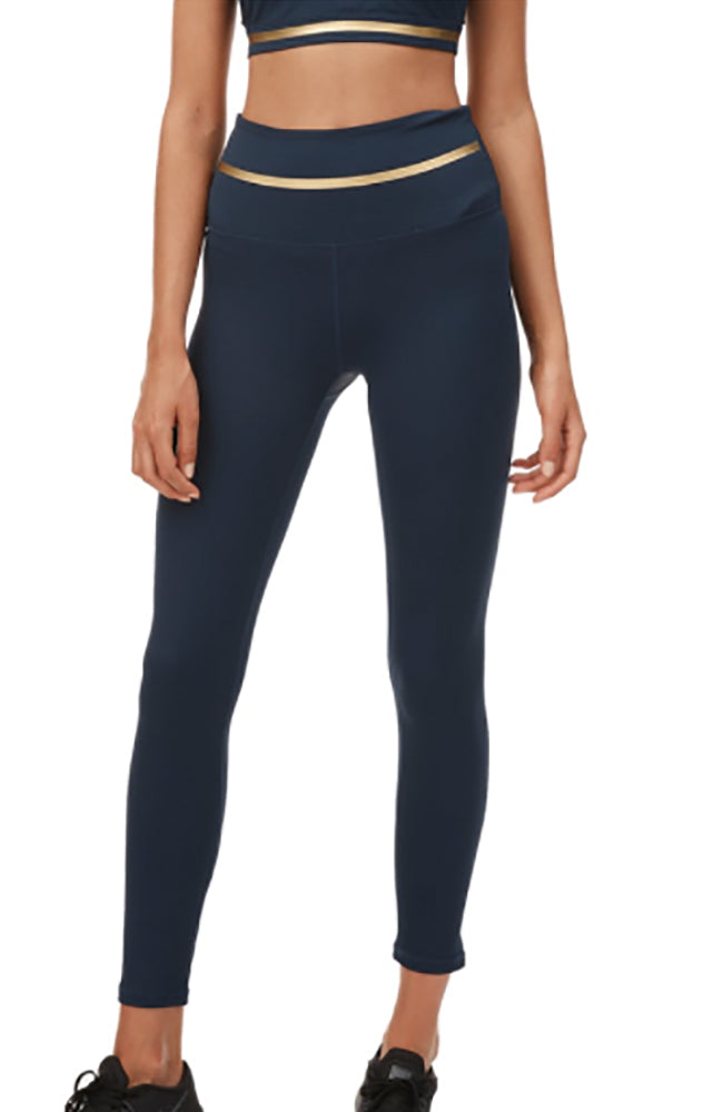 Taylor 7/8 Legging - Navy/Gold