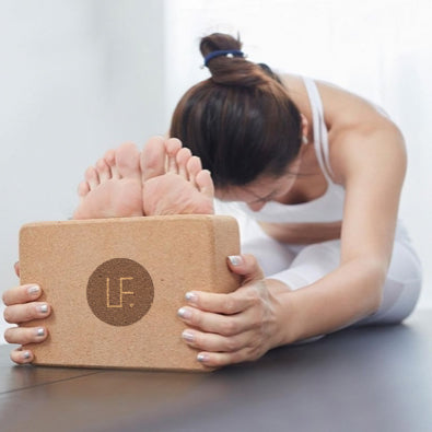 LF Premium Yoga Block - Natural Cork