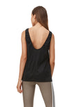Back Scoop Tank - Black Ribbed