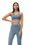 Camilla sports bra - Heather blue