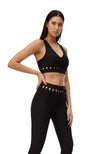 Juliet Woven sports bra - Black