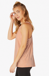 Lightweight crossed back tank - Coral dust/melon