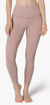 Caught In The Midi High Waisted Legging - Brazen Blush