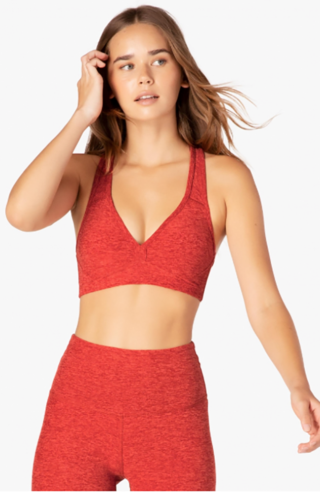 Spacedye lift your spirits bra - Scarlet sun/sienna