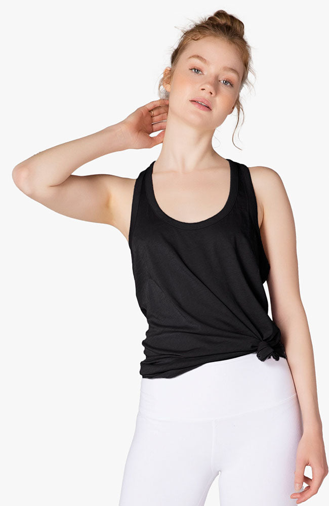All About It Racerback Tank - Black