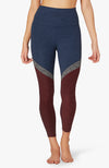 Tri-Panel Spacedye High waisted midi legging - Insignia Navy Tri-Panel