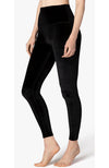 Velvet Motion High Waisted Midi Legging - Black