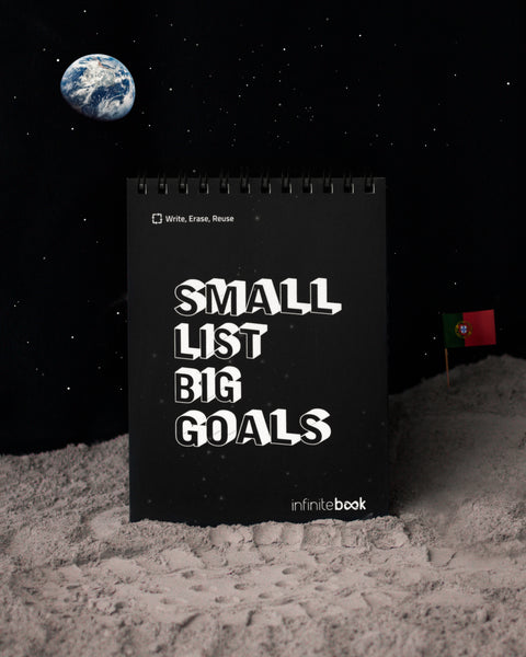Podemos levar-te à Lua? 🌙 | Infinitebook A6 Small List Big Goals