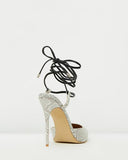 Lace Up Point Heel