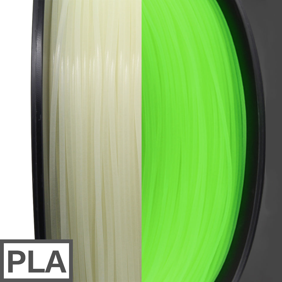 PLA filament 1kg 1.75mm (Glowing Green)