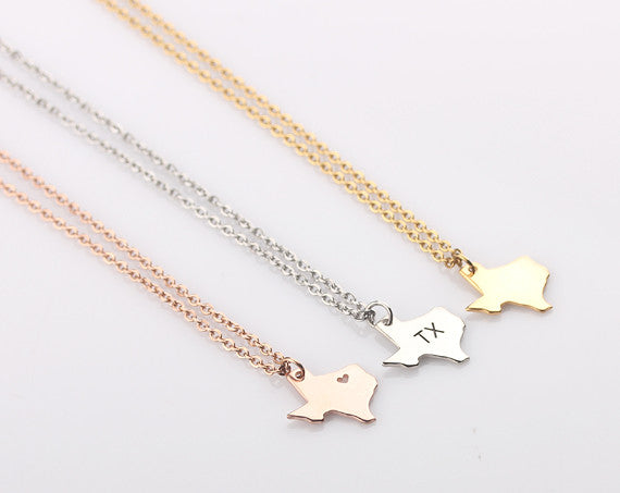 Texas state jewelry small texas necklace charm yuetianxia texas state jewelry small texas necklace charm aloadofball Images