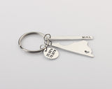 Virginia State Keychain - Custom Bar Keychain - GPS Disc Keychain