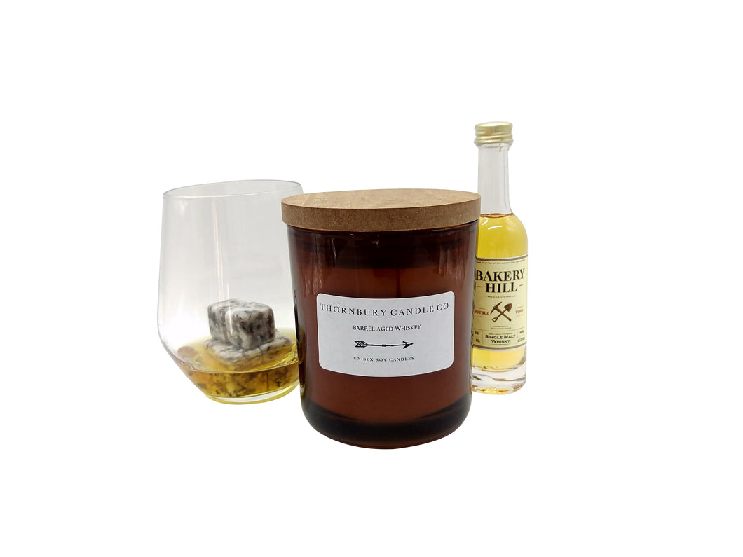 barrel aged whiskey scented candle set for Father's Day 2017