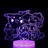 Pocket Monsters 3D Lamp - 7 colors - GoPokeShop