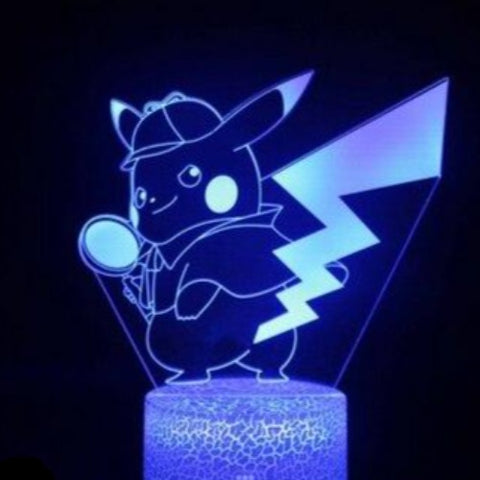 Detective Pikachu 2 3D Lamp - 7 colors - GoPokeShop