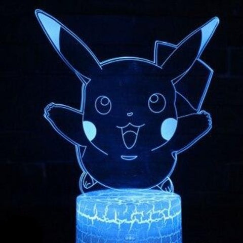 Pikachu Fly 3D Lamp - 7 colors - GoPokeShop