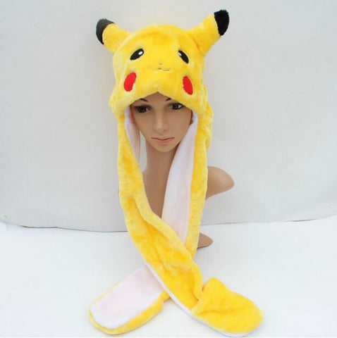 Pikachu Pokemon hat - with gloves - GoPokeShop