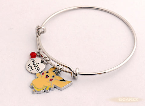 "Pikachu ""I Choose You"" Bracelet - GoPokeShop"