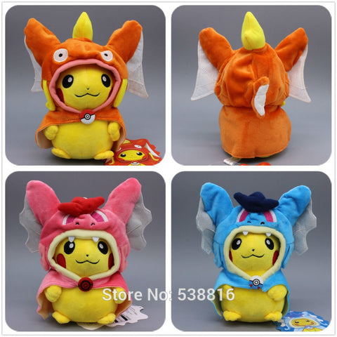 Pokémon Plush - Pikachu as Magikarp & Gyarados - GoPokeShop