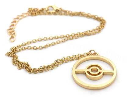 Gold Pokeball Necklaces - GoPokeShop