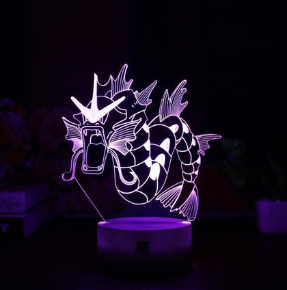 Gyarados Pokemon 3D Lamp - 7 colors - GoPokeShop