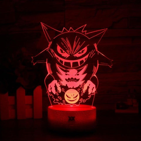 Gengar Pokemon 3D Lamp - 7 colors - GoPokeShop