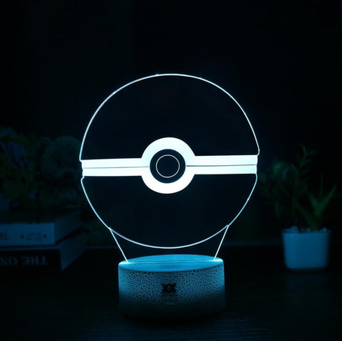 Pokeball Pokemon 3D Lamp - 7 colors - GoPokeShop