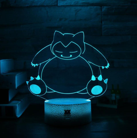 Snorlax Pokemon 3D Lamp - 7 colors - GoPokeShop