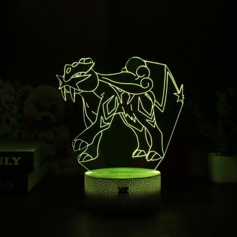 Raikou 3D Lamp - 7 colors - GoPokeShop