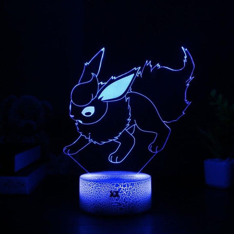 Flareon Pokemon 3D Lamp - 7 colors - GoPokeShop