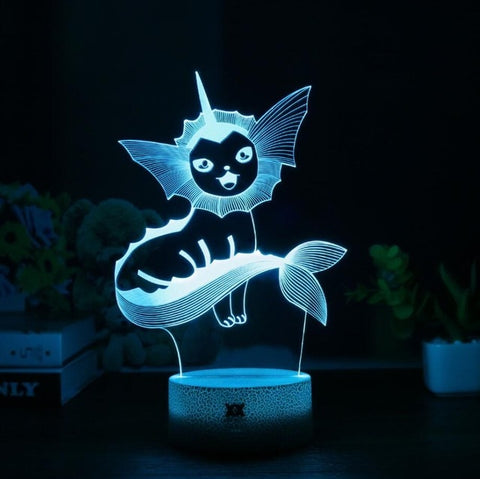 Vaporeon 3D Lamp - 7 colors - GoPokeShop