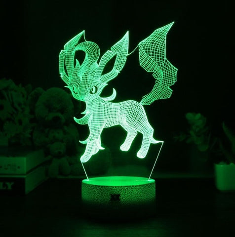 Leafeon Pokemon 3D Lamp - 7 colors - GoPokeShop