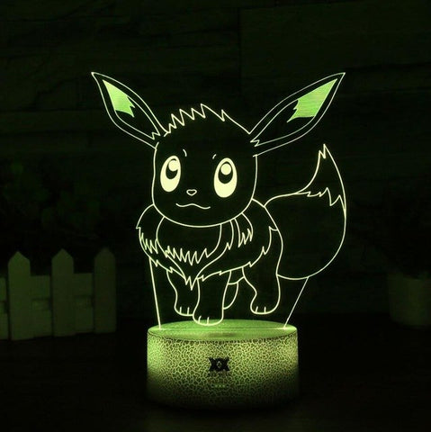 Eevee Pokemon 3D Lamp - 7 colors - GoPokeShop