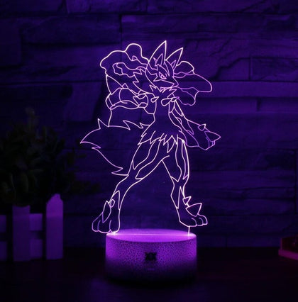 Lucario Pokemon 3D Lamp - 7 colors - GoPokeShop