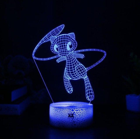 Mew Pokemon 3D Lamp - 7 colors - GoPokeShop