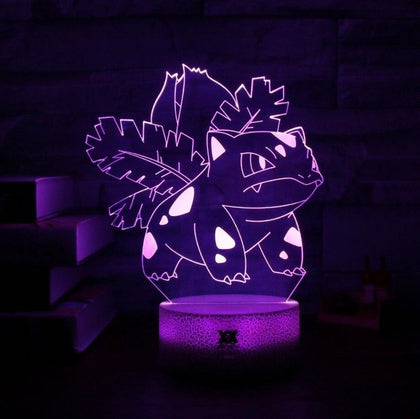 Ivysaur Pokemon 3D Lamp - 7 colors - GoPokeShop