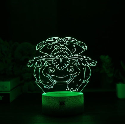 Venusaur 3D Lamp - 7 colors - GoPokeShop