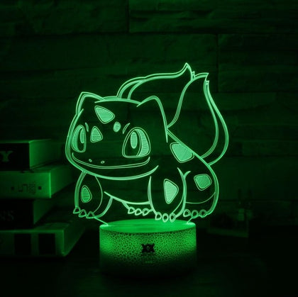 Bulbasaur Pokemon 3D Lamp - 7 colors - GoPokeShop