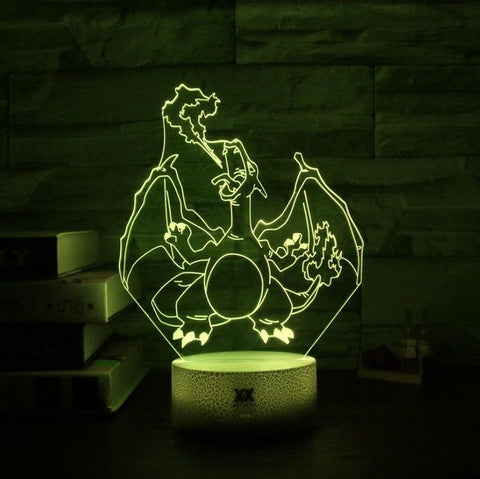 Charizard Pokemon 3D Lamp - 7 colors - GoPokeShop