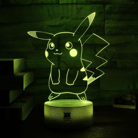 Pikachu Pokemon 3D Lamp - 7 colors - GoPokeShop