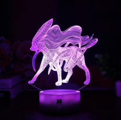 Suicune 3D Lamp - 7 colors - GoPokeShop