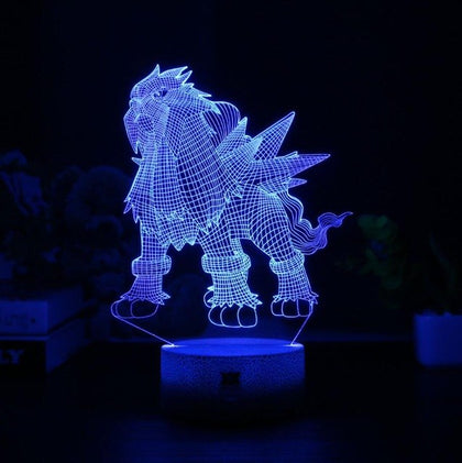 Entei Pokemon 3D Lamp - 7 colors - GoPokeShop