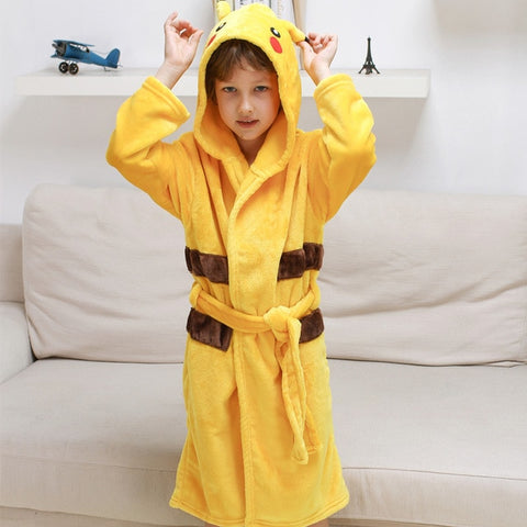 Pikachu Bathrobe Kids - GoPokeShop